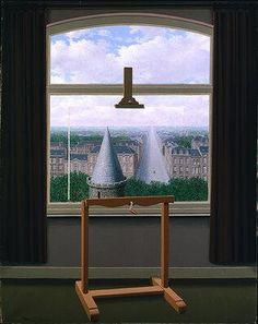 René Magritte (surrealista belga 1898-1967) - Le passeggiate di Euclide -1955 - The Minneapolis Institute of Arts, Minneapolis - In realtà un quadro nel quadro