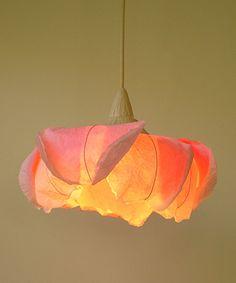 Japanese washi ceilinglight Rose