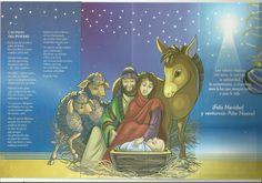Imagen del Nacimiento del Niño Dios en tarjeta de la librería San Pablo Serie estrella de Belén No 10