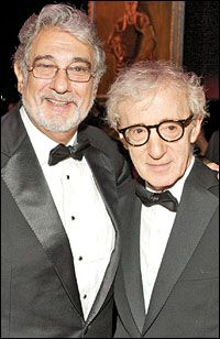 Placido (one of my faves) and Woody.  PlaybillArts: Features: Metropolitan Opera: Immortal Immortalized
