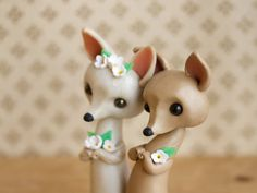 Chihuahua Wedding Cake Topper by Bonjour by BonjourPoupette