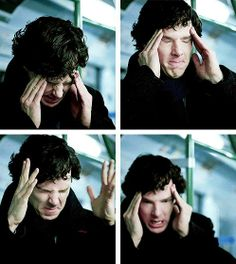 Frustration moment trying to find bomb info in his mind palace. Great acting by Benedict.