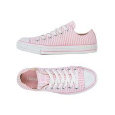 Converse Seersucker Chuck (3205 RSD) found on Polyvore featuring shoes, sneakers, converse, pink, clearance, converse shoes, converse trainers, converse footwear, converse sneakers and pink shoes