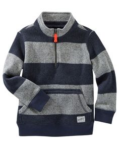 Warm fleece and a kanga pocket are perfect for your little guy's winter…
