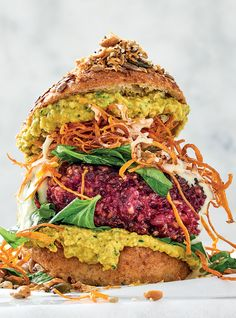 """Add peppery turmeric """"hummus"""" and a dollop of vegan mayo and you've got yourself a winner! Vegan Baking Recipes, Best Vegan Recipes, Easy Recipes, Easy Meals, Salad Places, Balsamic Onions, Cowboy Beans, Look And Cook, Roasted Walnuts"""