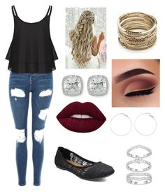 """""""Untitled #61"""" by suzannefri on Polyvore featuring Topshop, Jellypop, Sole Society and Frederic Sage"""