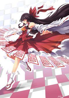 Zero Two - Reimu Hakurei by mysticswordsman21.deviantart.com on @deviantART