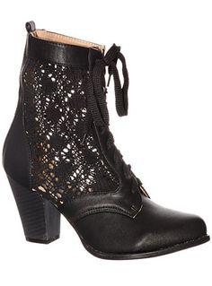 Victorian Lace Ankle Boots AT vintagedancer.com