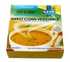 Keya Instant Sweet Corn Vegetable Soup 68G at Rs.90 online in India.