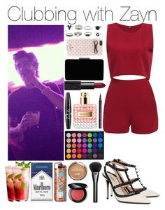 """Clubbing with Zayn"" by xhoneymoonavenuex ❤ liked on Polyvore featuring Barry M, Bobbi Brown Cosmetics, Gucci, Valentino, NYX, NARS Cosmetics, John Lewis and Kate Spade"