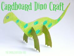 Cardboard Dinosaur Craft for Kids!
