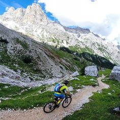 This was again a terrific #mountainbike day on the #dolomites trails.