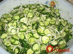 Skúste jeden ešte dnes na večeru: Zbierka 11 top šalátov z uhoriek - ľahké, rýchle a o minútku na stole! Sweet Recipes, Cucumber, Zucchini, Vegetables, Per Diem, Summer Squash, Vegetable Recipes, Cauliflowers, Veggies