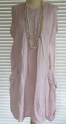 Fabulous Italian Linen Lagenlook Quirky Pleated Tunic Style Dress RSP £69 | eBay