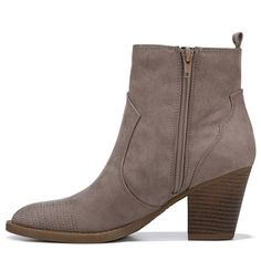 Indigo Rd Women's Edenia Western Booties (Taupe) 4 Inch Heels, Girlfriends, Westerns, Taupe, Night Out, Indigo, Booty, Zipper, Ankle