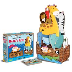 Junior: Noah's Ark - Assemble and Build. Giant puzzle with a book. Giant Waves, Science Toys, Puzzle Books, White Doves, Rhinoceros, Little Books, Zebras, Educational Toys, Toy Chest