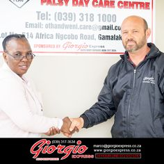 Rep Roedolf Fourie donating to cerebral palsy for . More info on our website. Link in BIO.