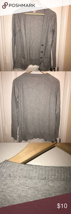 Grey cardigan Comfortable long sleeve cardigan. Slightly worn. Mossimo Supply Co Sweaters Cardigans