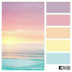 Pastel Sunset Ocean Rainbow