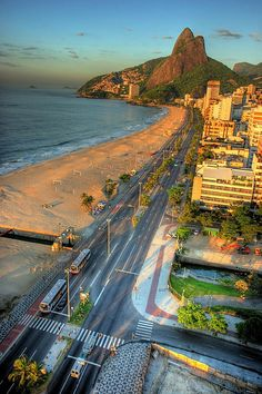 Rio de Janeiro, Brazil About one third down Brazil's Atlantic Coast. Capital of Brazil is Brazilia. Beautiful Places In The World, Places Around The World, Oh The Places You'll Go, Wonderful Places, Places To Travel, Places To Visit, Around The Worlds, Travel Local, Brazil Beaches