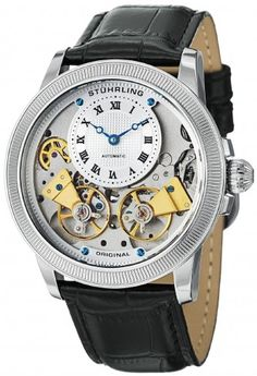Stuhrling Original 368B.33152 Symphony Aristocrat Gemini II Automatic Skeleton Watch For Men