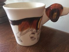 BEAGLE Mug 3D Dog Handcrafted Highly Detailed Head Coffee Cup #Unbranded