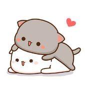 Cute Love Memes, Cute Love Gif, Cute Love Cartoons, Cute Cat Gif, Cute Cats, Gato Anime, Anime Cat, Cute Cartoon Pictures, Cute Love Pictures