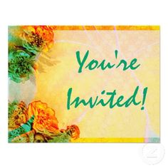 Tropical Borders invitation