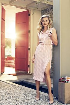 Reese Witherspoon in Harper's Bazaar UK January 2015 displaying her fabulous legs