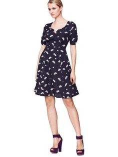 9bbd7fb58d Definitions Teapot Print Dress Classic Style Women