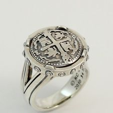 Barry Kieselstein Cord Spanish Doubloon 2010 Sterling Silver Ring