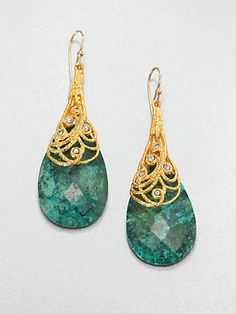 Alexis Bittar - Chrysocolla Drop Earrings - Saks.com