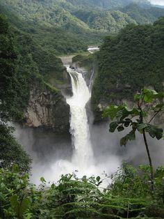 San Rafael Waterfall in Ecuador