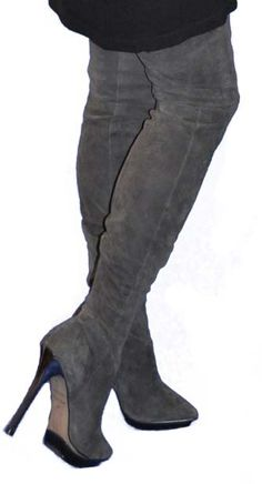 thigh high boots and thigh highs on
