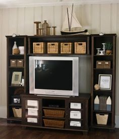 Dark Wood Entertainment Center. Drool