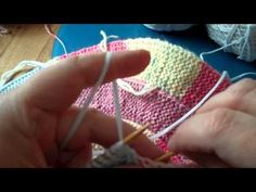 10 Stitch Spiral - Knitting in rounds (3) Knitting tutorial - YouTube