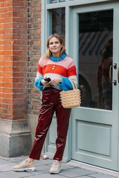 6bf8eefca7a29 Lucy Williams wearing Julliard Striped Sweater Ganni Spring Summer 2018  Listras