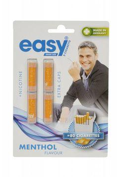 Navullingen voor de Easy smart size E-Sigaret (Menthol smaak met Nicotine)