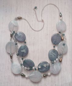 Mr. Grey: Chunky funky necklace!  Live in shades of grey with this beauty :)  www.aebumble.com