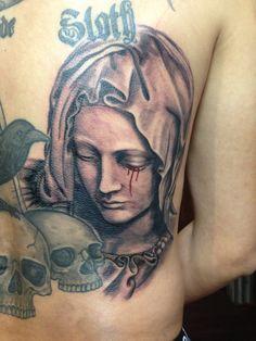 pieta tattoo,portrait tattoo..  follow me, www.facebook.com/mad.tattoo.studio. Instagram mad_tattoo_johnny