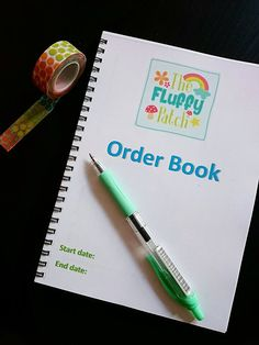 Order books for small business, customisable and matched to your branding