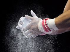 Samuel Mikulak of the United States applies chalk to his hands before high bar at the men's all-around gymnastics competition during the Pan Am Games in Toronto on Monday, July Gymnastics Chalk, Olympic Gymnastics, Cheerleading Quotes, Cheer Quotes, Olympic Badminton, Olympic Games Sports, Simone Biles, All Around Gymnastics, Lenotre
