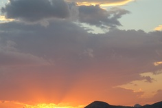 Sunset over Crete