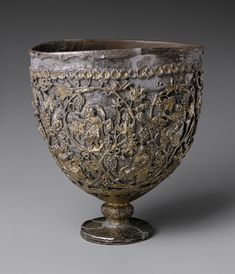 """The """"Antioch Chalice,"""" first half of 6th century, Byzantine, Silver, silver-gilt (The Metropolitan Museum of Art)"""
