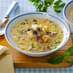 Наваристый+суп+с+шампиньонами+в+мультиварке.+Пошаговый+рецепт+с+фото+на+Gastronom.ru