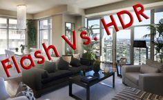Real Estate Photography - how to contend with dark interiors and large bright windows - HDR vs. Flash