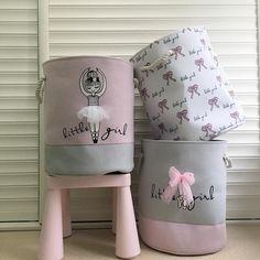 Pink Laundry Basket Organizer for Dirty Clothes Cotton Ballet Girl Bow Print Toys Organizer Home Storage & Organization Toy Storage Bins, Toy Bins, Storage Baskets, Bag Storage, Clothes Storage, Storage Ideas, Laundry Basket Organization, Toy Organization, Laundry Baskets
