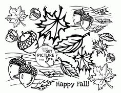 4 FREE PRINTABLE FALL COLORING PAGES Activities Leaves and Kid