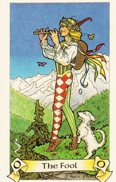 Card of the Day: The Fool from Robin Wood Tarot ~ New beginnings and new journeys often need a leap of fatih to get you going.  The fear and anxiety that you have about breaking out of your comfort zone is completely natural, but it doesn't need to stop you.  Take that first step towards your greatness and experience the wonders that await you!
