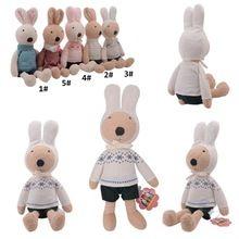 Metoo precioso conejito de peluche de tela de punto conejo de peluche de juguete muñeca para regalos de cumpleaños para los niños 34 * 10 ' #(China (Mainland))